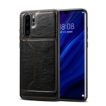 Dibase TPU + PC + PU Crazy Horse Texture Protective Case for Huawei P30 Pro, with Holder & Card Slots (Black)