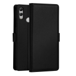 DZGOGO MILO Series PC + PU Horizontal Flip Leather Case for Huawei P Smart (2019) / Honor 10 Lite / Nova Lite 3, with Holder & Card Slot & Wallet (Black)