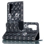 3D Black Eyes Pattern Horizontal Flip PU Leather Case for Huawei P30 Pro, with Holder & Card Slots & Wallet & Photo Frame
