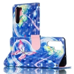 3D Hearted Butterflies Pattern Horizontal Flip PU Leather Case for Huawei P30 Pro, with Holder & Card Slots & Wallet & Photo Frame