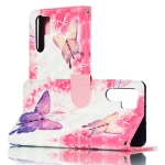 3D Pink Butterflies Pattern Horizontal Flip PU Leather Case for Huawei P30 Pro, with Holder & Card Slots & Wallet & Photo Frame