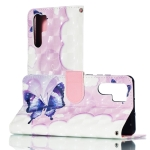 3D Swallowtail Butterflies  Pattern Horizontal Flip PU Leather Case for Huawei P30 Pro, with Holder & Card Slots & Wallet & Photo Frame