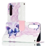 3D Swallowtail Butterflies Pattern Horizontal Flip PU Leather Case for Huawei P30, with Holder & Card Slots & Wallet & Photo Frame