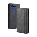 Magnetic Buckle Retro Texture Horizontal Flip Leather Case for Huawei Honor View 20, with Holder & Card Slots & Wallet (Black)