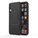 Shockproof PC + TPU Case for Huawei P30 Lite, with Holder (Black)