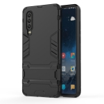 Shockproof PC + TPU Case for Huawei P30, with Holder (Black)