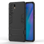 Shockproof PC + TPU Case for Huawei P30 Pro, with Holder (Black)
