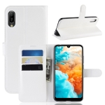 Litchi Texture Horizontal Flip Leather Case for Huawei Y6 Pro 2019, with Wallet & Holder & Card Slots(White)