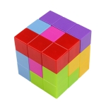 MoFun 730B 3D Solid Color Magnetic Square Magic Cube Children Puzzle Toy