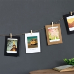 90 PCS / 10 Sets Creative DIY 6 inch Kraft Paper Wall Hanging Photo Frames with Clips & Rope