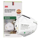 3M 25 PCS 9502V KN95 Dustproof Anti-PM2.5 Head-mounted Folding Mask with Breathing Valve