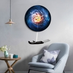 B015-032 Plane Pattern Galaxy Style Home Living Room Decoration Acrylic Mute Wall Clock, Size : 28cm
