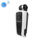 F910 CSR4.1 Retractable Cable Caller Vibration Reminder Anti-theft Bluetooth Headset (White)
