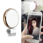 CYKE BR34 Mirco USB Round Beauty Live LED Fill Light with Mirror (Gold)