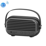 NewRixing NR-3000 Stylish Household Bluetooth Speaker with Hands-free Call Function, Support TF Card & USB & FM & AUX(Black)