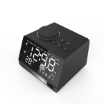 X11 Multifunctional Wireless Bluetooth Mirror Alarm Box Radio (Black)