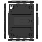 Full Coverage Silicone Shockproof Case for iPad Pro 11 inch (2018), with Adjustable Holder (Black)