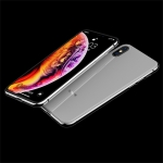 JOYROOM Smooth Series Shockproof TPU + Glass Protective Case for iPhone X / XS (White)