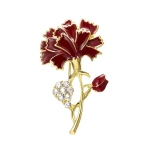 Creative Alloy Diamond Flower Brooch Jewelry for Lady Mothers Day Gifts