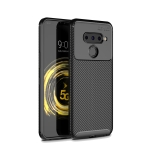 Beetle Series Carbon Fiber Texture Shockproof TPU Case for LG V50(Black)