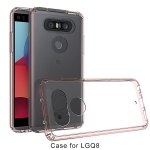 Scratchproof TPU + Acrylic Protective Case for LG Q8 (Pink)