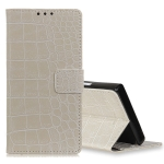 Retro Crocodile Texture Horizontal Flip Leather Case for LG K40, with Holder & Card Slots & Photo Frame (White)