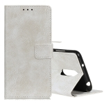 Retro Crazy Horse Texture Horizontal Flip Leather Case for LG K40, with Holder & Card Slots & Photo Frame (White)