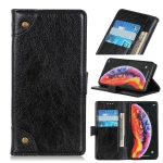 Copper Buckle Nappa Texture Horizontal Flip Leather Case for OnePlus 7, with Holder & Card Slots & Wallet (Black)