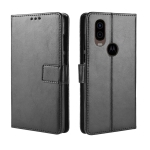 Crazy Horse Texture Horizontal Flip Leather Case for Motorola P40, with Holder & Card Slots & Wallet & Lanyard (Black)