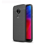 Litchi Texture TPU Shockproof Case for Motorola Moto G7 Power (Black)