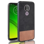 Shockproof Color Matching Denim PC + PU + TPU Case for Motorola Moto G7 Play (EU Version) (Black)