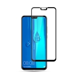 mocolo 0.33mm 9H 2.5D Silk Print Tempered Glass Film for Huawei Y9 2019 / Enjoy 9 Plus (Black)