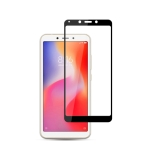 mocolo 0.33mm 9H 2.5D Silk Print Tempered Glass Film for Xiaomi Redmi 6 (Black)