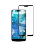 mocolo 0.33mm 9H 2.5D Silk Print Tempered Glass Film for Nokia 7.1 (Black)