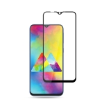 mocolo 0.33mm 9H 2.5D Full Glue Silk Print Tempered Glass Film for Galaxy M20 (Black)