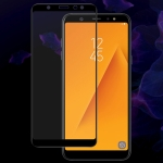 IMAK 9H Full Screen Tempered Glass Film Pro Version for Galaxy A6+ 2018 (Black)