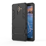 Shockproof PC + TPU Case for Nokia 7 Plus 2018, with Holder(Black)