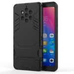 Shockproof PC + TPU Case for Nokia 9, with Holder(Black)