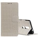Retro Crocodile Texture Horizontal Flip Leather Case for Nokia 4.2, with Holder & Card Slots & Photo Frame (White)
