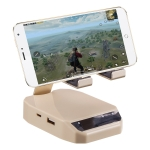 D9 Bluetooth 4.0 Portable Gamepad Keyboard Mouse Converter Station with Mobile Phone Holder (Beige)