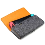 Portable Soft Felt Handbag Storage Protective Bag for Nintendo Switch (Dark Gray)