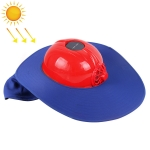 Solar Charging Safety Helmet with Fan & Sunshade Outdoor Hard Hat (Red+Blue)