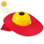 Solar Charging Safety Helmet with Fan & Sunshade Outdoor Hard Hat (Yellow+Red)