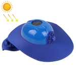 Solar Charging Safety Helmet with Fan & Sunshade Outdoor Hard Hat(Blue)