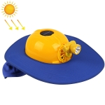 Solar Charging Safety Helmet with Fan & LED Light & Sunshade Outdoor Hard Hat(Blue)