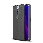 Litchi Texture TPU Shockproof Case for OPPO F11 Pro (Black)