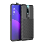 Carbon Fiber Texture Shockproof TPU Case for OPPO F11 Pro (Black)