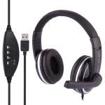 OVLENG Q6 Stereo Headset with Mic & Volume Control Key for Computer, Cable Length: 2m (Black)