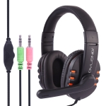 OVLENG X6 Stereo Headset with Mic & 3.5mm Plug & Volume Control Key for Computer, Cable Length: 1.8-2m (Orange)