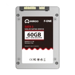 eekoo F-ONE 60GB SSD SATA3.0 6Gb / s 2.5 inch MLC Solid State Hard Drive for Desktop PC / Laptop, Read Speed: 500MB / s, Write Speed: 180MB / s(Silver)